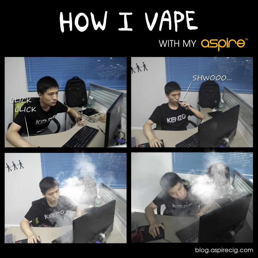 how i vape with my aspire1