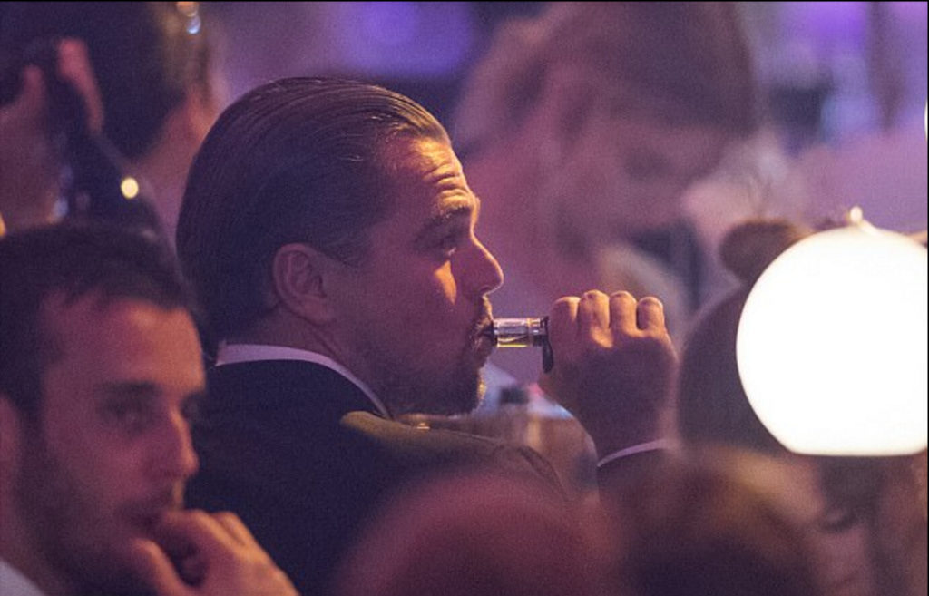 Leonardo DiCaprio vaping on the Aspire Cleito120 tank at the 2017 Cannes Film Festival.