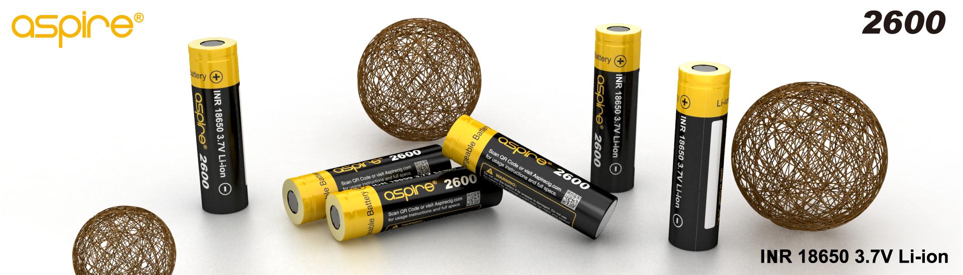 aspire 18650 2600mah battery