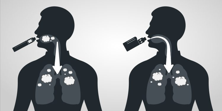 difference between mouth to lung and direct to lung