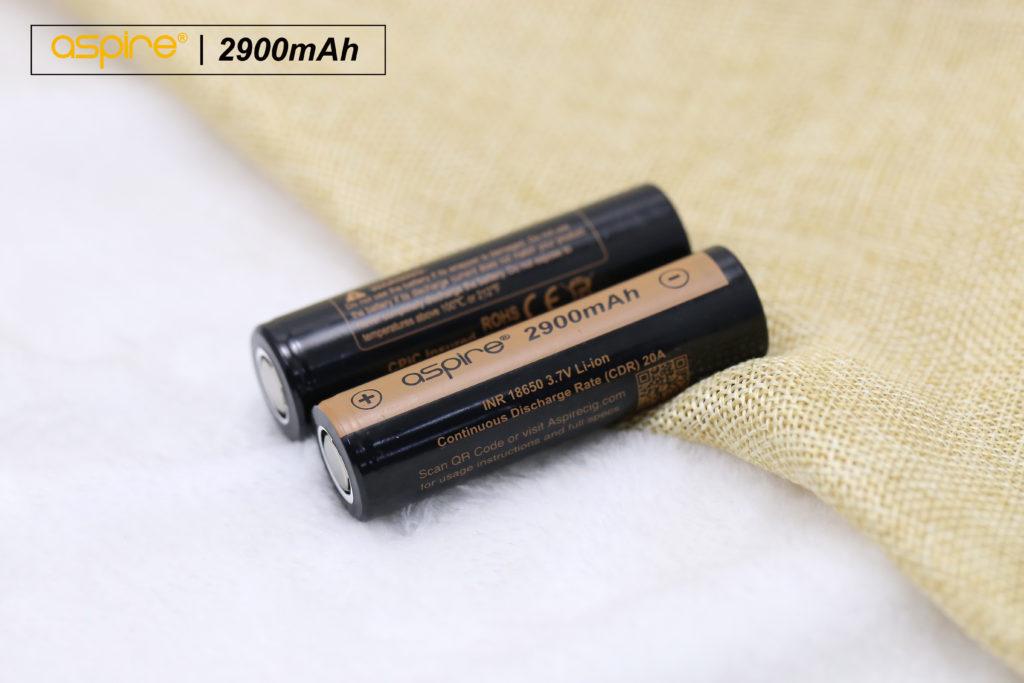 aspire 18650 battery 2900mAh
