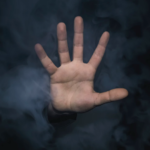 vapor and hand