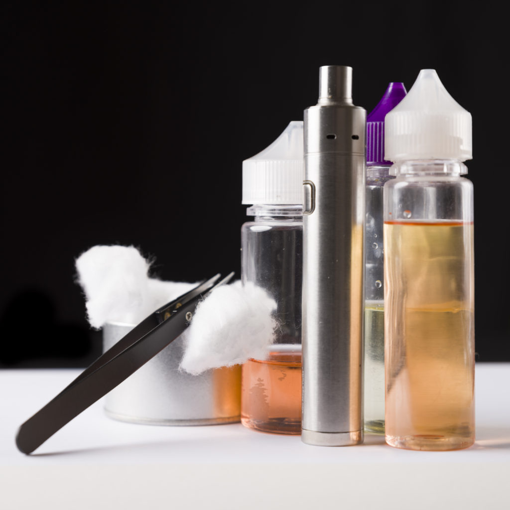 Wicking material for a vaping device