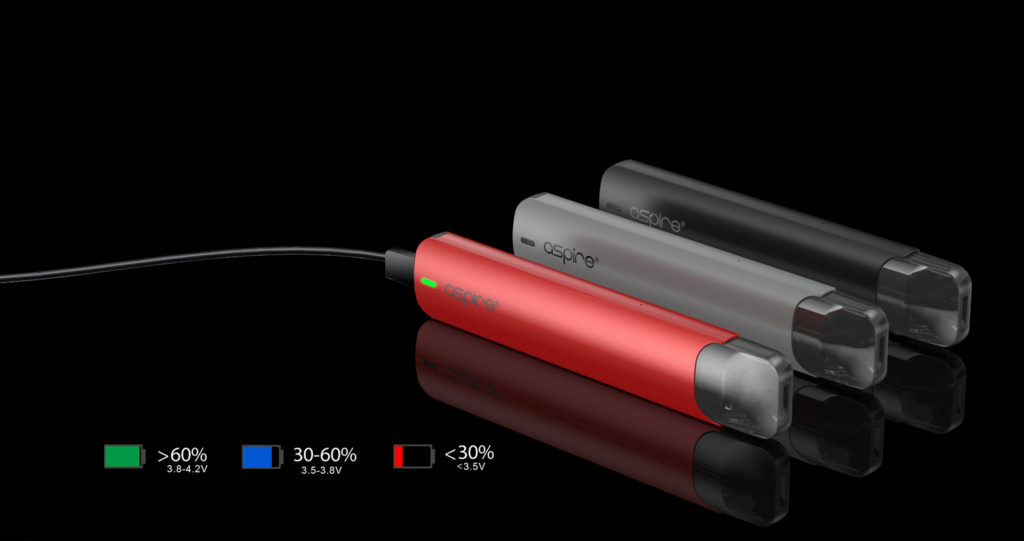Aspire SLX battery indicator