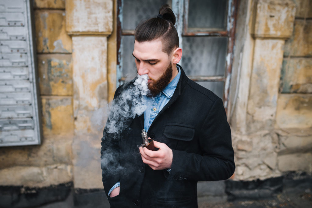 Keep the vapor in your mouth for more nicotine absorption and exhale through your nostrils.