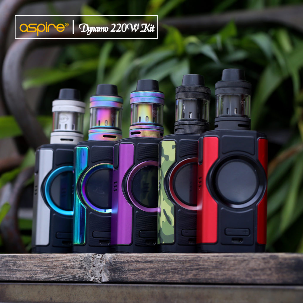 The Aspire Dynamo mod produces up to 220 watts of output power.