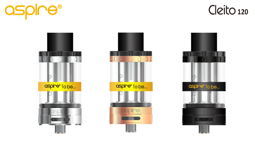 The Aspire Cleito 120 with the protective rubber band.