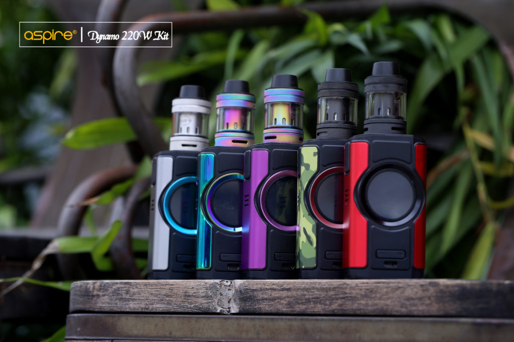 The Dynamo mod is available in five colors: dark grey, red with black, rainbow, purple and camo with black.