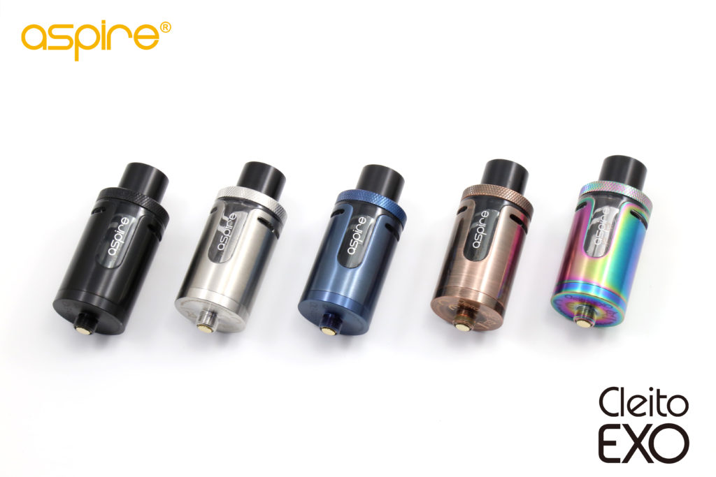 The Cleito EXO is made of stainless steel and available in five colors .