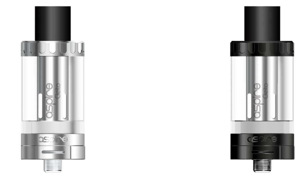 The original Aspire Cleito, a sub-ohm device with 3.5 ml capacity (2 ml for TPD countries) and Pyrex glass.