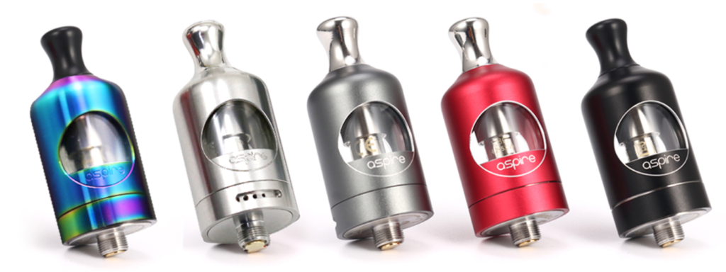 The Nautilus 2 tank has a modern design. Available in black, red, grey, stainless steel and rainbow