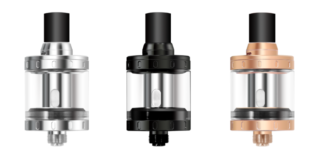The Nautilus X comes with Delrin drip tips that are heat resistant and offer a good quality and comfortable vaping.