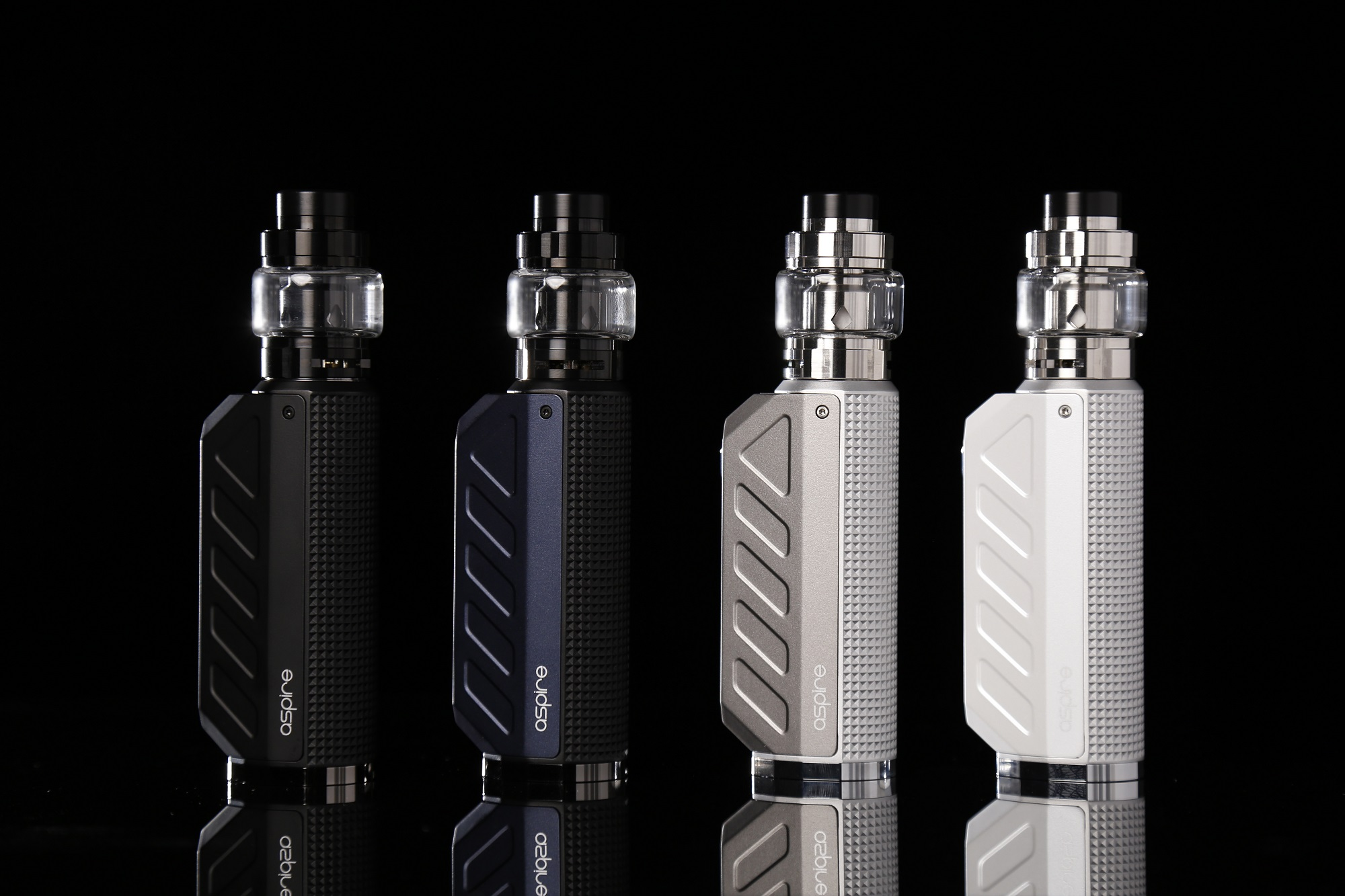 Aspire Deco Kit in four colors: black, navy, gray and pearl.