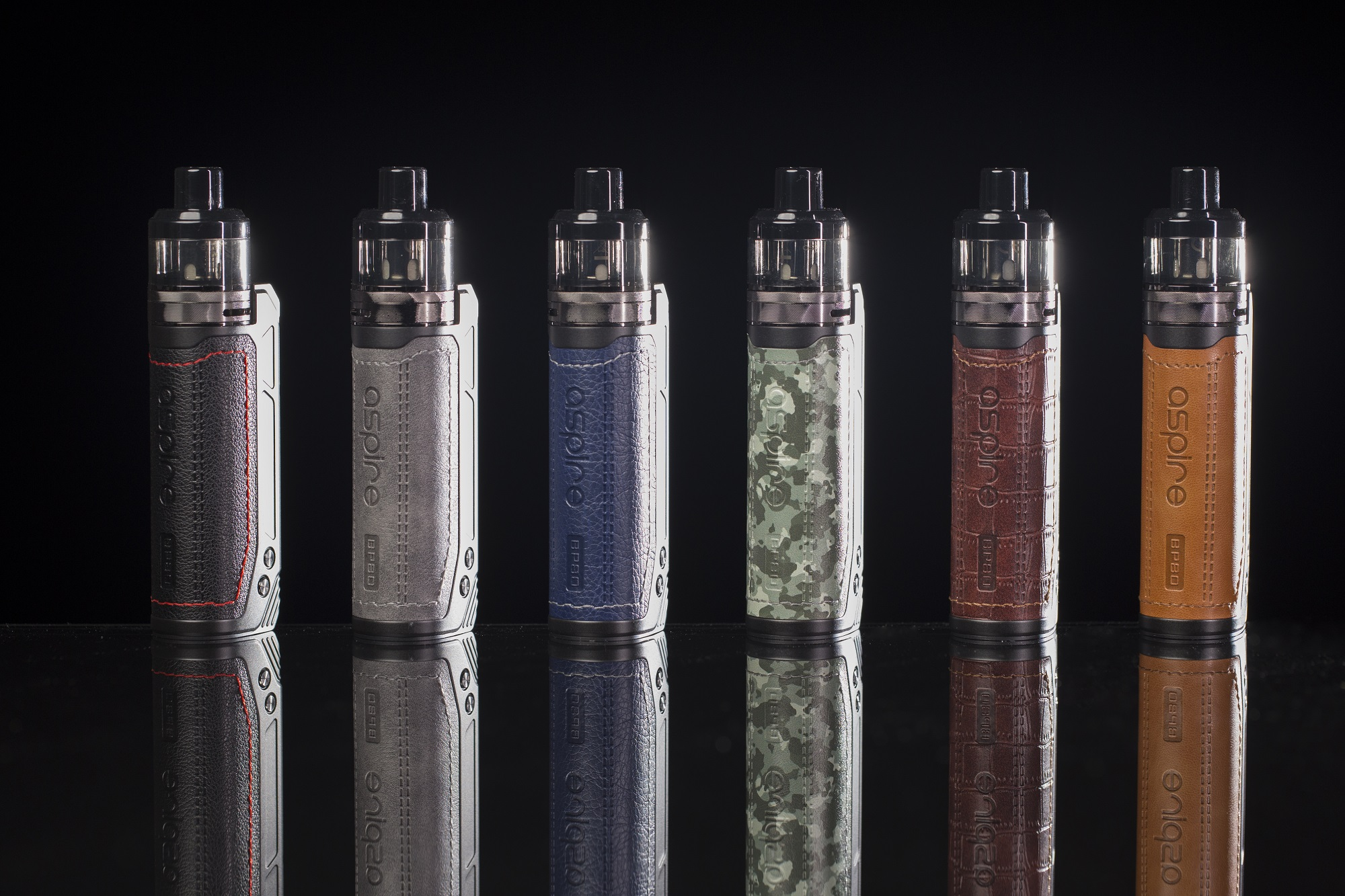 The Aspire BP80 in six different colors.