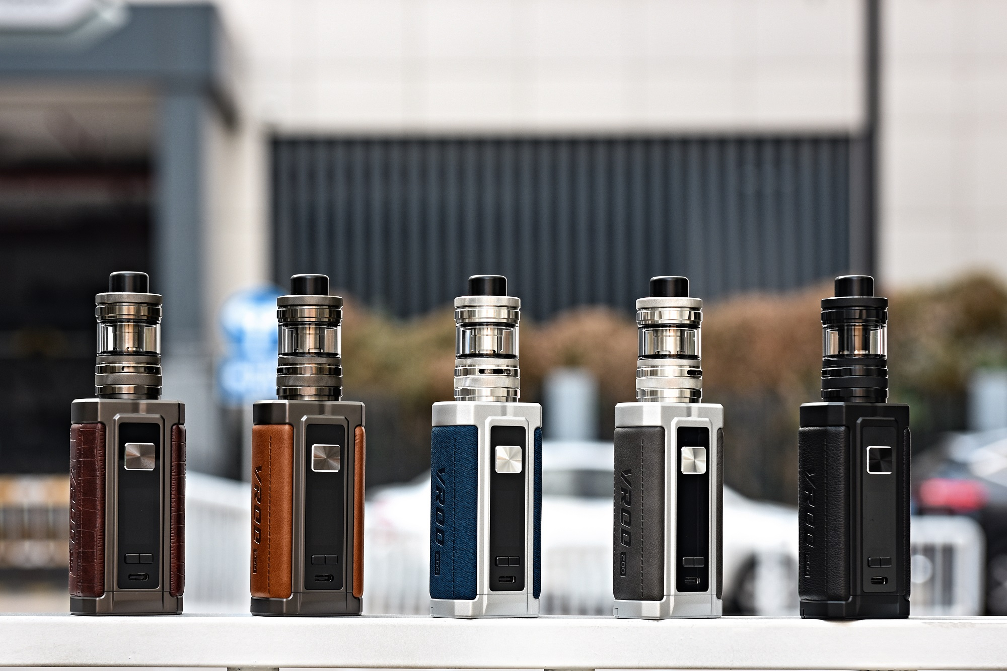 Aspire Vrod 200 Kit in five different colors.